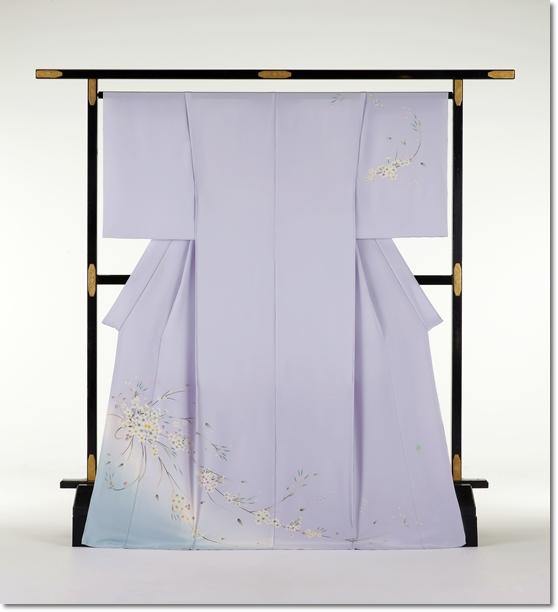 本加賀友禅訪問着_松島由美作_薄紫色