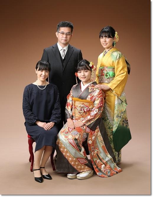 成人式家族写真