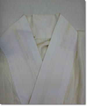 長襦袢の半衿の汚れ
