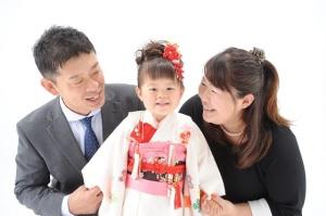 3歳女の子 七五三家族写真
