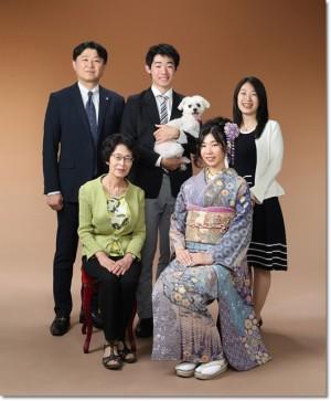 成人式の家族写真_親子3代で撮影