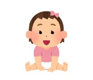 女の子赤ちゃんイラスト