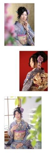 母親の紫色の辻が花の振袖