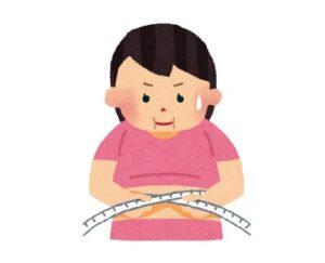 ダイエットで焦る女性のイラスト