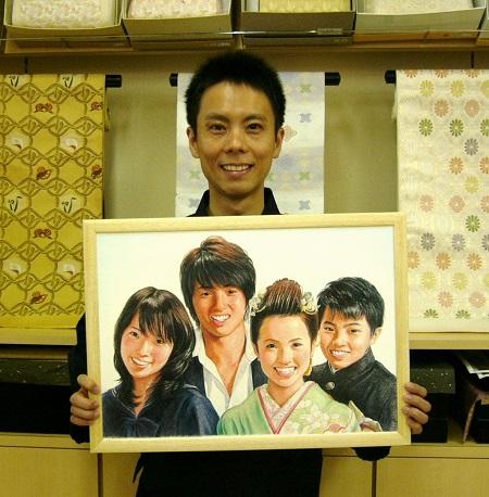 上田様4人兄弟肖像画と6代目_450