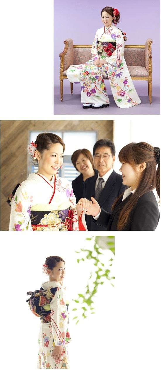 成人式の家族写真