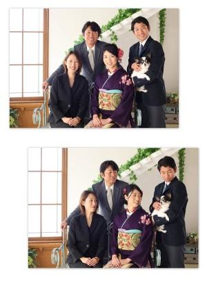 成人式_ペットフォト家族写真