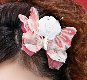 蝶の髪飾り_名古屋市
