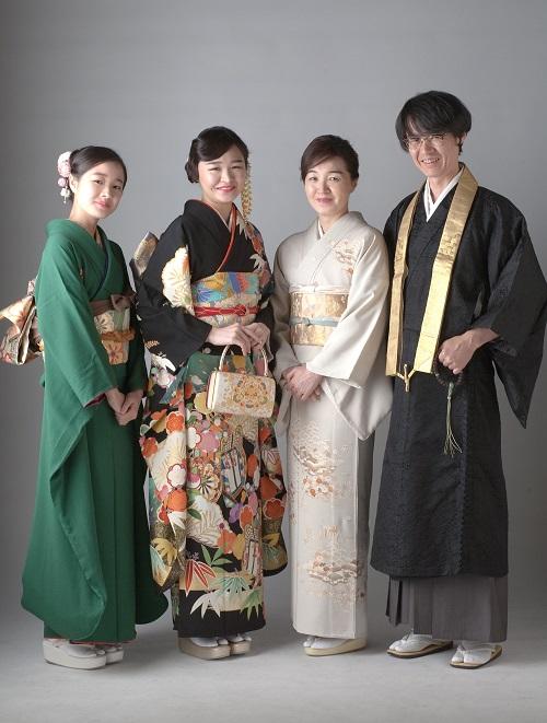 成人式の前撮り 家族写真