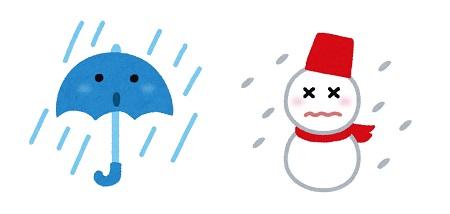天気_雨雪 イラスト