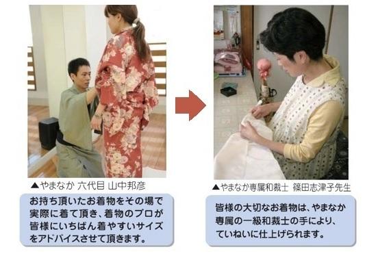 名古屋で着物のサイズ直し