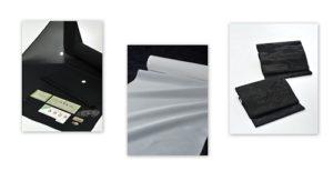 和装喪服・白長襦袢・黒共帯3点セット画像