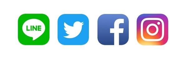 ライン ツイッター Facebook インスタ ロゴ_600