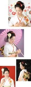 振袖の日本髪